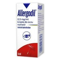 Allergodil 0,5 mg / ml krople do oczu 6 ml