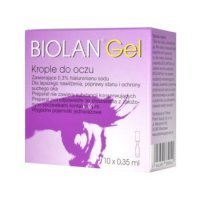Biolan Gel 0,3% krople do oczu 10 minimsów 0,35 ml