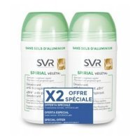 SVR SPIRIAL DUO Antyperspirant vegetal ROLL- ON 50 ml + 50 ml