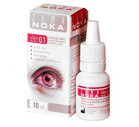 ZUMA NOKA 0,1+ krop.do oczu 10 ml